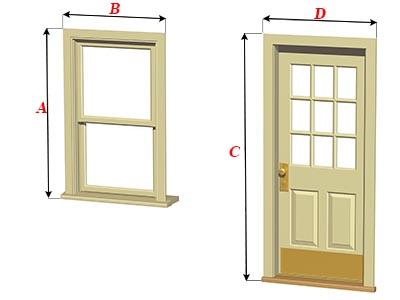 Размеры дверных и оконных проемов